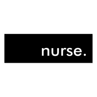 nurse.. pack of skinny business cards