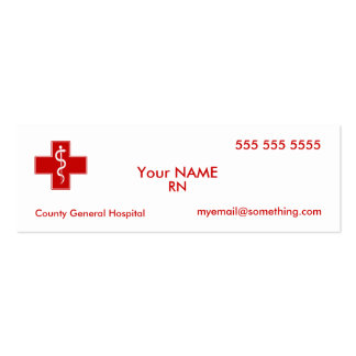 Nurse Pack Of Skinny Business Cards