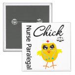 Nurse Paralegal Chick v1 Button