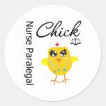 Nurse Paralegal Chick v1 Round Sticker