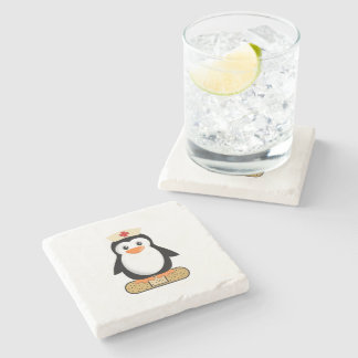 Nurse Penguin Stone Coaster