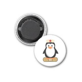 Nurse Penguin (w/bandaid) 3 Cm Round Magnet