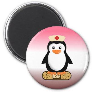 Nurse Penguin (w/bandaid) 6 Cm Round Magnet