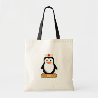 Nurse Penguin (w/bandaid) Budget Tote Bag