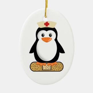 Nurse Penguin (w/bandaid) Christmas Ornament