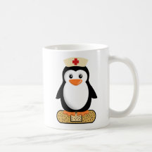 Nurse Penguin (w/bandaid) Mug