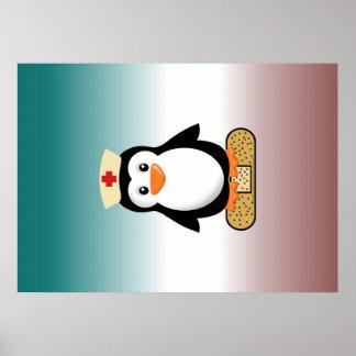 Nurse Penguin (w/bandaid) Poster