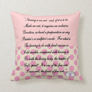 Nurse Pillow With Florence Nightingale Quote