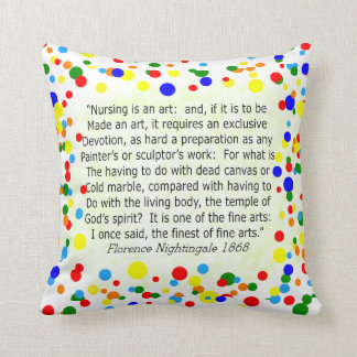 Nurse Pillow With Florence Nightingale Quote II