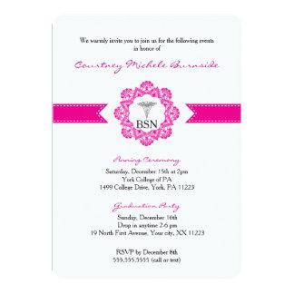 Nurse pinning ceremony or graduation party RN BSN 13 Cm X 18 Cm Invitation Card