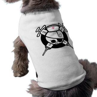 Nurse Pirate and Cross Hypos Sleeveless Dog Shirt