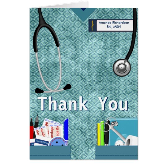 Nurse Pockets Thank You - Blue Card