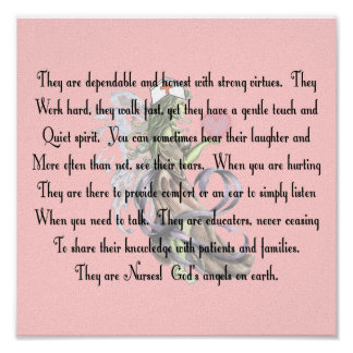 "Nurse Poem Canvas Art Print ""They Are Nurses"""