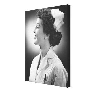 Nurse Posing Gallery Wrapped Canvas
