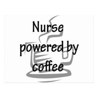 NURSE POWERED BY COFFEE POSTCARD