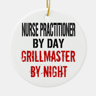 Nurse Practitioner Grillmaster Christmas Ornament