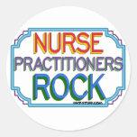 Nurse Practitioners Rock Round Sticker