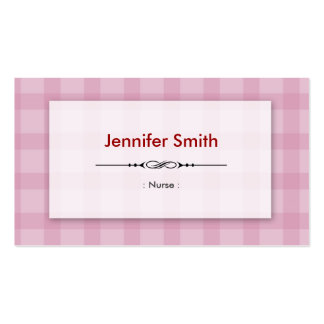 Nurse - Pretty Pink Squares Pack Of Standard Business Cards