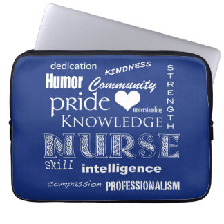 Nurse Pride-Attributes/Dark Blue-13 inch Computer Sleeves