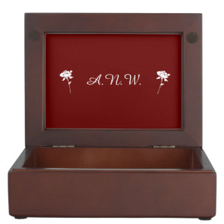 Nurse Pride Attributes-Maroon/Personalize Initials Keepsake Box