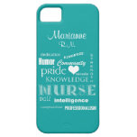 Nurse Pride-Attributes+Name /Aqua Barely There iPhone 5 Case