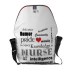 Nurse Pride-Attributes/Red Heart+Initials Courier Bag