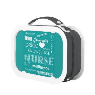 Nurse Pride-Attributes/Turquoise Lunchbox
