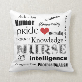 Nurse Pride Attributes-with Red Heart Throw Cushion