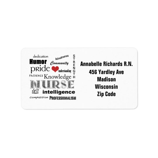 Nurse Pride+Personalise Name/Address Label