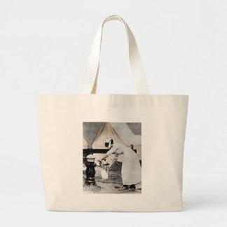 Nurse Pumping Water Jumbo Tote Bag