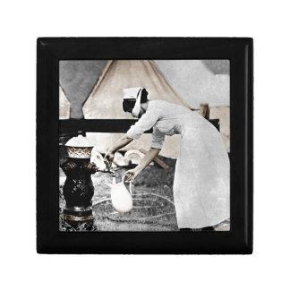 Nurse Pumping Water Small Square Gift Box