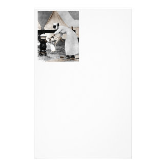 Nurse Pumping Water Stationery
