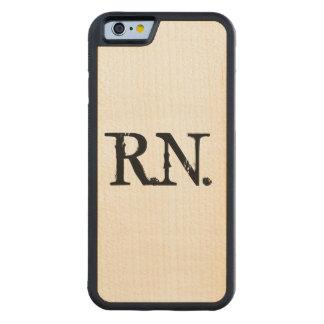 Nurse R.N. maple wood phone case