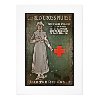 Nurse Requesting Donations WWI Invite