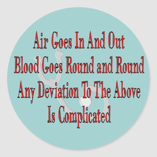 Nurse/Respiratory Therapist Gifts Classic Round Sticker