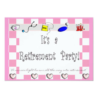 NURSE Retirement Party Invitations