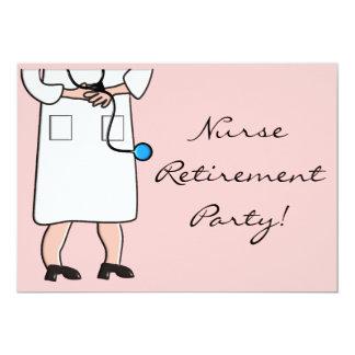 """NURSE Retirement Party Invitations 5"""" X 7"""" Invitation Card"""