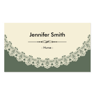 Nurse - Retro Chic Lace Pack Of Standard Business Cards