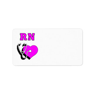 Nurse RN Care Address Label