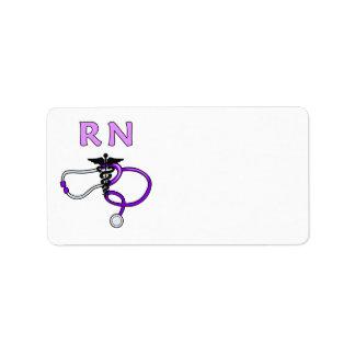 Nurse RN Stethoscope Label