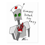 Nurse Robot Postcard