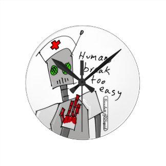 Nurse Robot Wall Clock