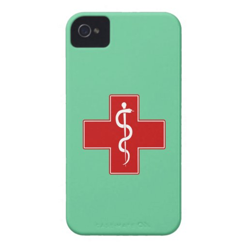 Nurse Rod of Asclepius iPhone 4 Case