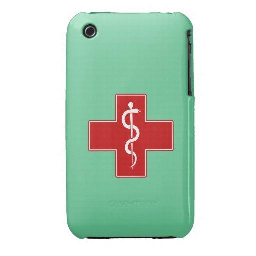 Nurse Rod of Asclepius iPhone 3 Case-Mate Case