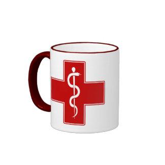 Nurse Rod of Asclepius Ringer Mug