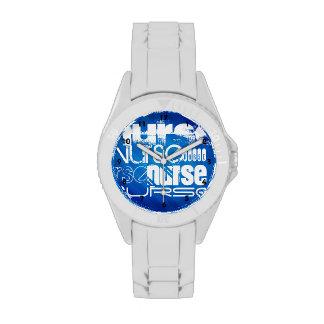 Nurse; Royal Blue Stripes Wrist Watches