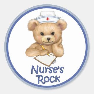 Nurse s Rock Round Stickers