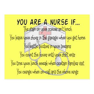 "Nurse Sayings ""You Are a Nurse IF"" Postcard"