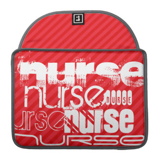 Nurse; Scarlet Red Stripes MacBook Pro Sleeve