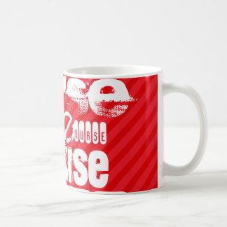 Nurse; Scarlet Red Stripes Basic White Mug
